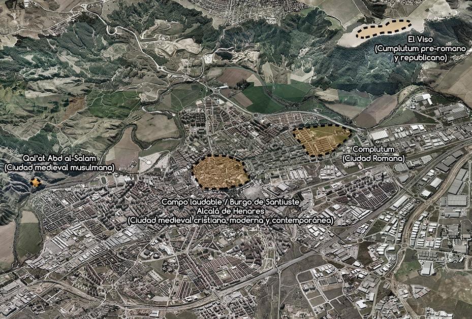Vista aérea 3d de Alcala