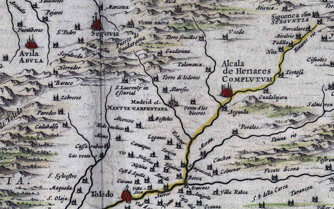 1635 Map of Alcala