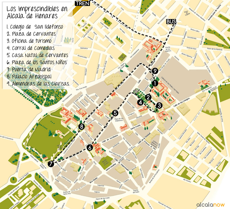 Mapa ciudad alcal de henares for Oficina de turismo alcala de henares
