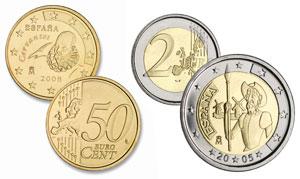 Monedas de Cervantes