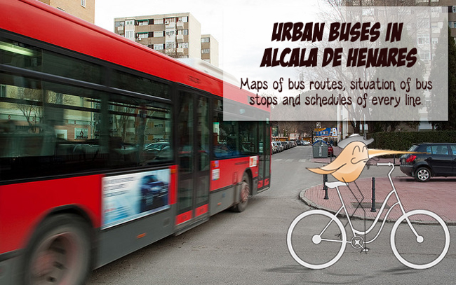 Urban buses in Alcala de Henares